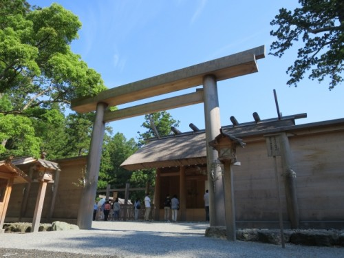 big torii gate of a shrine in Ise, Mie