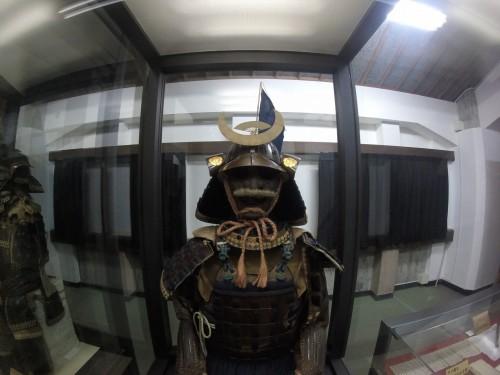 Samurai armor in Shimabara Castle museum