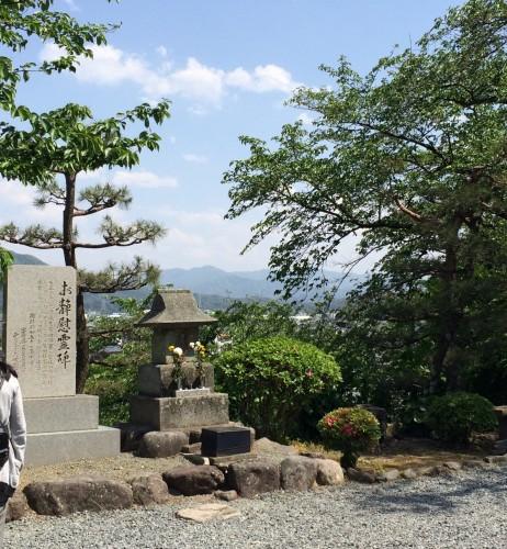 a small hilltop at Maruoka castle, Fukui