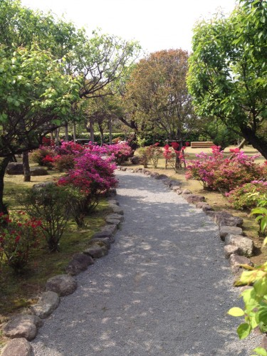 Beautiful walkway to Shimabara castle