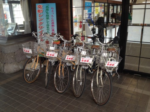 By renting bicycle,you smoothly explore around shimabara