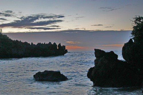Beautiful sunset, Kouri island in Okinawa