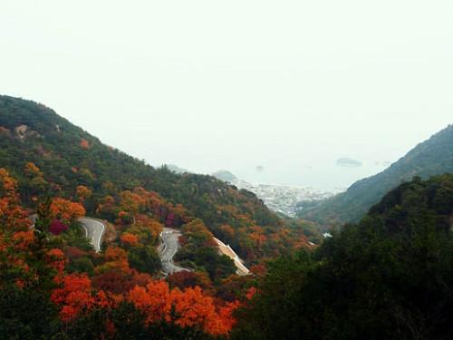 Shodoshima, mountain view of the island
