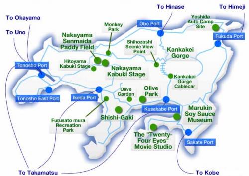 Shodoshima bus route map