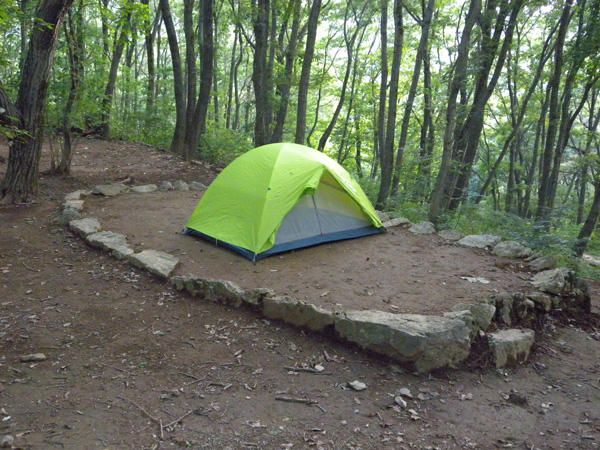 Open camping site on Chichibu