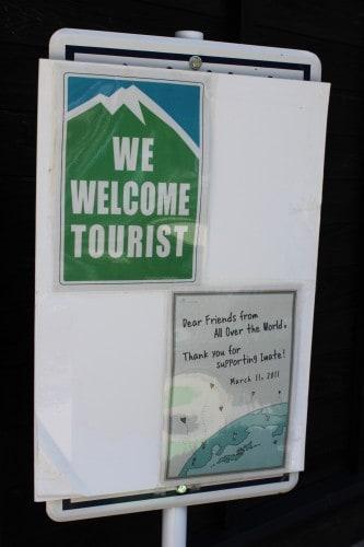 tourist welcome