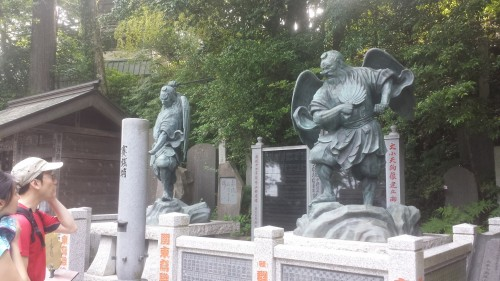 Mount Takao, statues on display