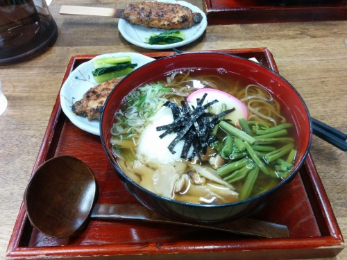 Nagano is famous for its soba noodles (buckwheat noodles). Kiso Valley