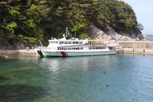 Ferry stationed at the Miyako Coast at  Jodogahama, Iwate prefecture
