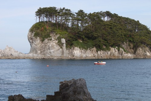 A Rocky Island Off the Miyako Coast, Iwate prefecture
