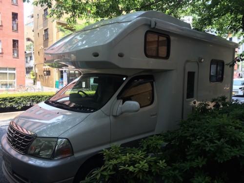 camper van in Tokyo