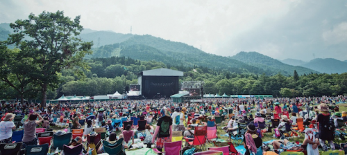 Fuji Rock Festival is quite exciting and energetic!