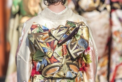 Obi is the belt to tip up kimono