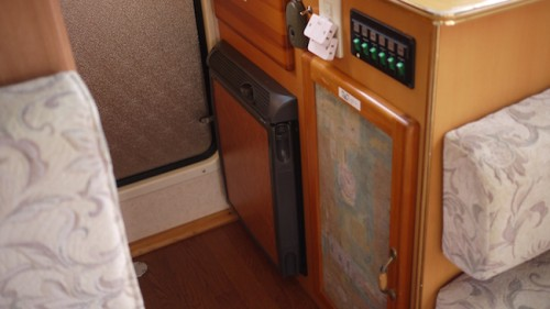 fridge in camper van