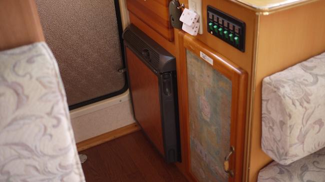 fridge in camper van
