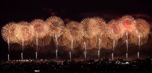 nagaoka fireworks is pretty famous among all of Japanese