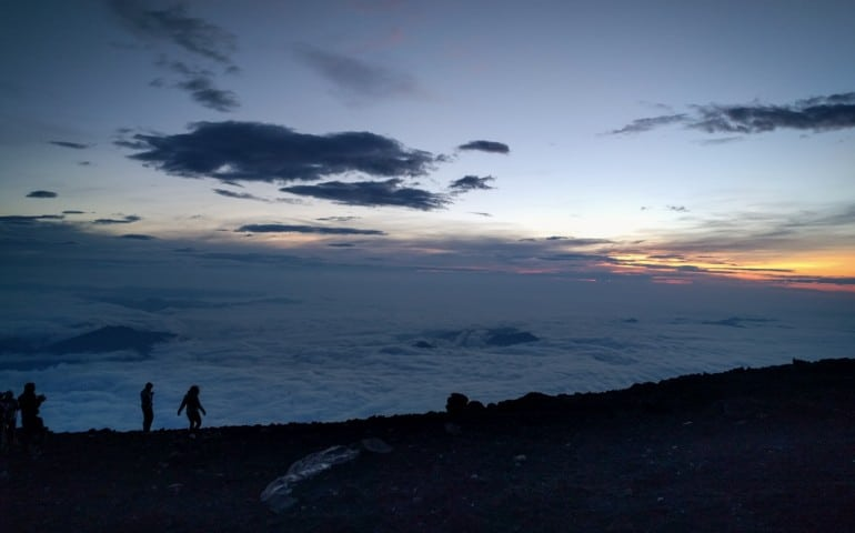 Road trip and hike to Mt Fuji to catch the sunrise