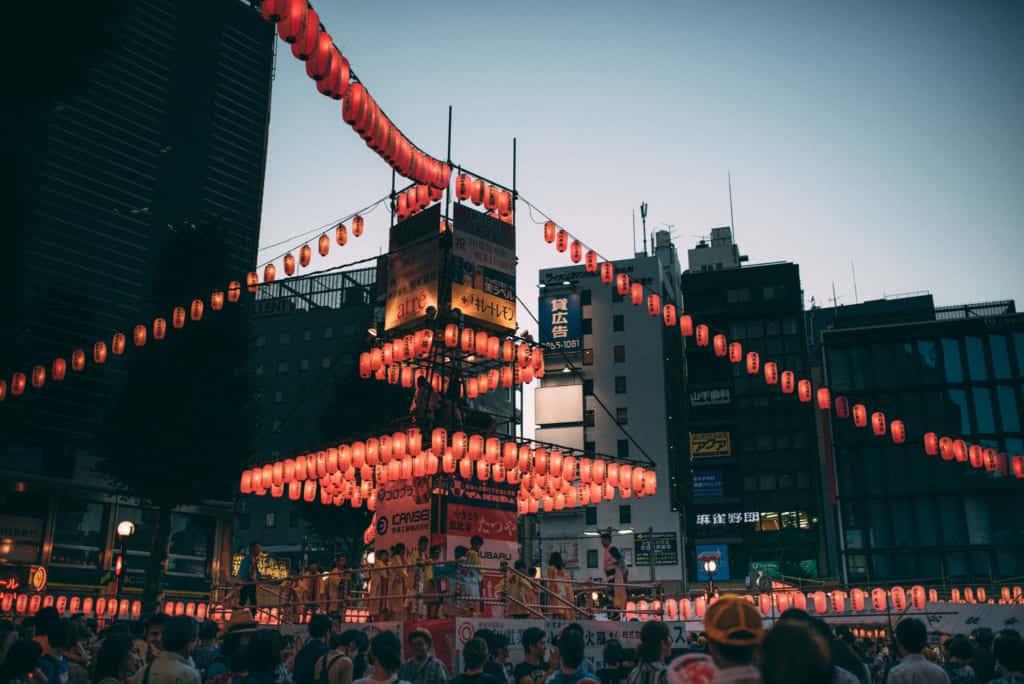 Obon festival in Tokyo