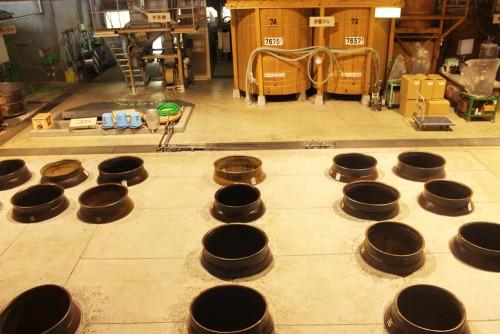 Shochu factory tour outside Kagoshima city, Kyushu, Japan.