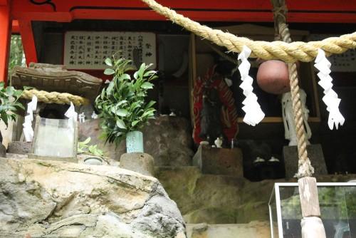 A waterfall shrine on the rock in Kagoshima prefecture