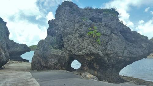 Beautiful rock figure in Okinawa