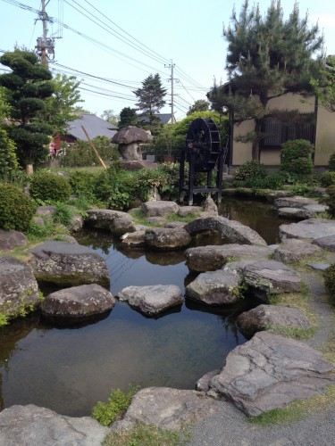 There is a Japanese traditional garden reminding us of samurai's era