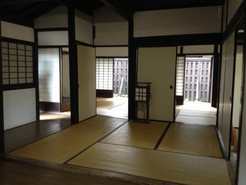 tatami room in samurai house, bukeyashiki