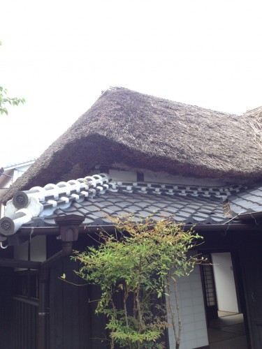 Samurai house roof's structure looks quite old enough as if it brought us back to the era