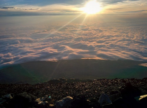 Sunrise from the top of Mt Fuji