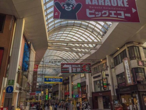 Although repairs were ongoing, shopping arcades began to return to business about a week after the quakes.