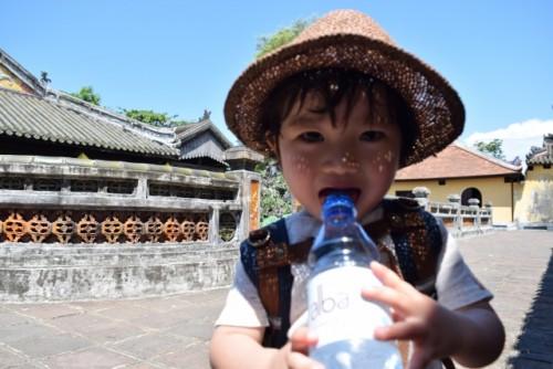 sweaty boy summer drinking water