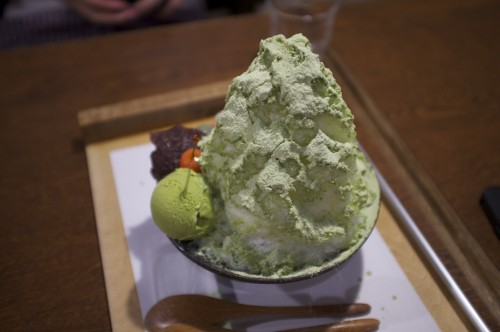 Shaved ice at one of Kurokawa's sweets cafes.