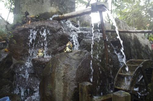 Mizu meguri point close to Aso shrine