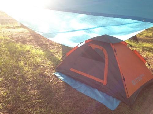 Camping site at Nishihama, Yamagata prefecture