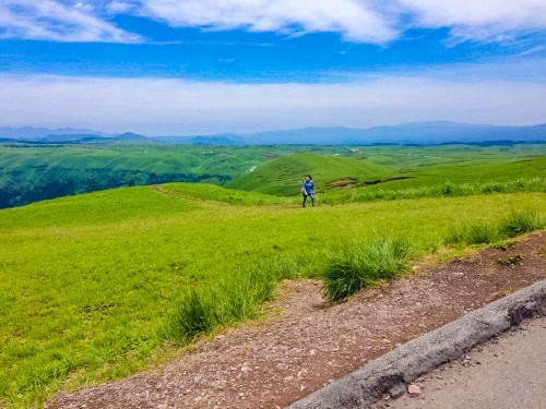 The view of Aso Daikanbo