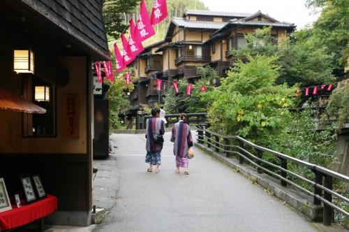 Nice onsen walking in Kurokawa onsen