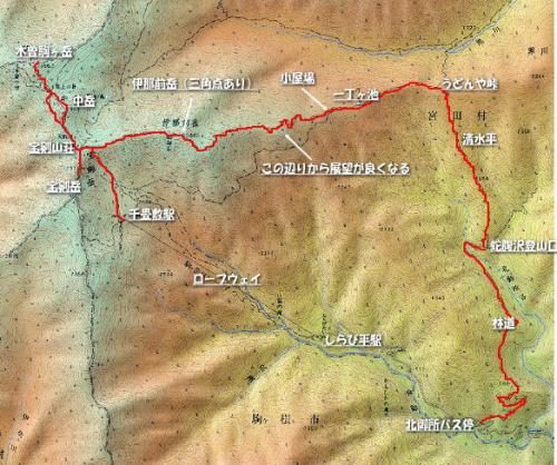 The route to Mount Kisokoma
