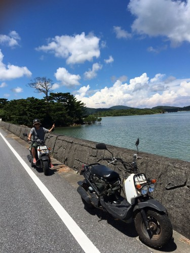Iriomote Island moped traveling