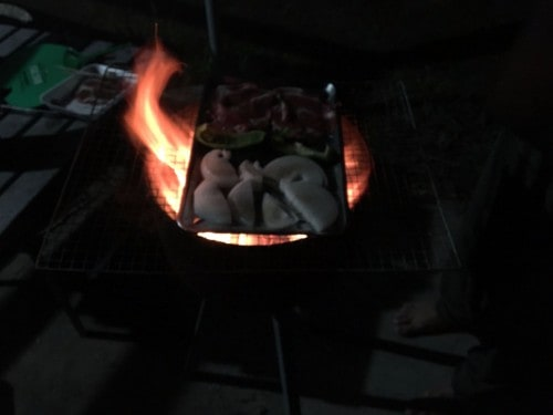 Iriomote Island camping cooking