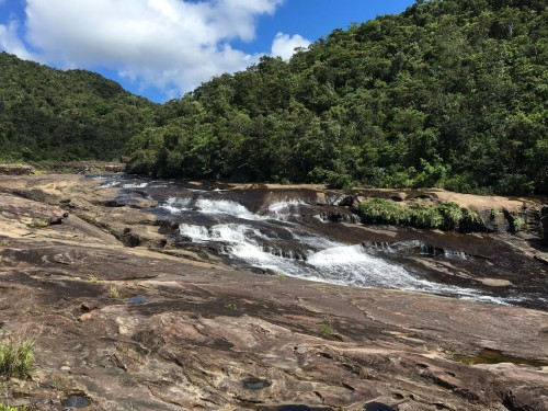 Kanpira falls(カンピラ滝) on the island