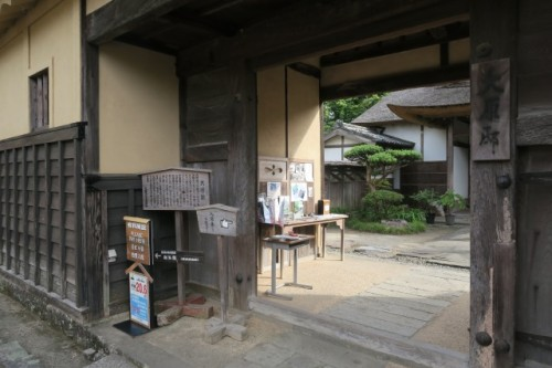 Here is the entrance to old samurai residences, the Ohara's residence.