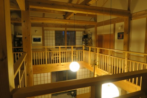 at the second floor in Farmer's inn in Yamakoshi