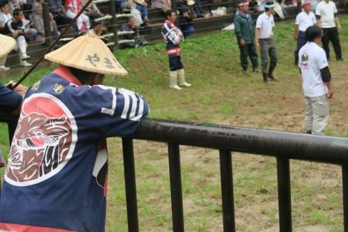 Yamakoshi locals are watching the game carefully.