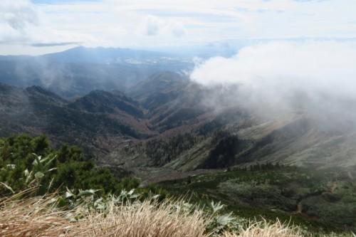 From the peak, Hotaka mountain