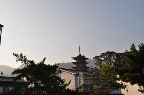 Miyajima morning pagoda