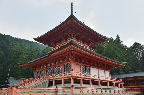 Enryakuji temple in Hieisan is a world heritage site which is close to Osaka