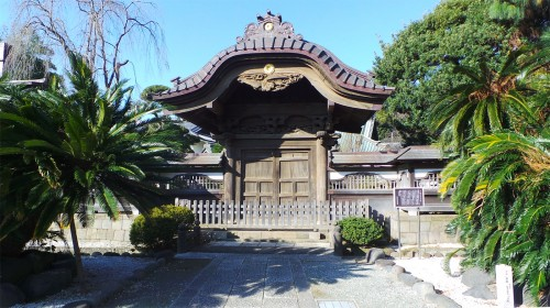 "The Chūjaku-mon gate (registered ""Important Cultural Property"")"