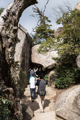 The hiking trail at Mount Misen, Miyajiama