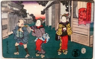 Ukiyo-e art in Fujisawa
