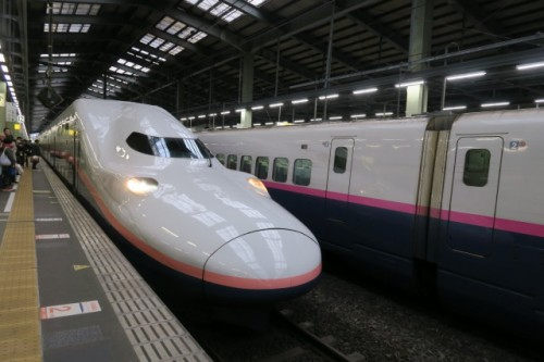 Shinkansen ( the bullet train ) will take you to Niigata quickly!